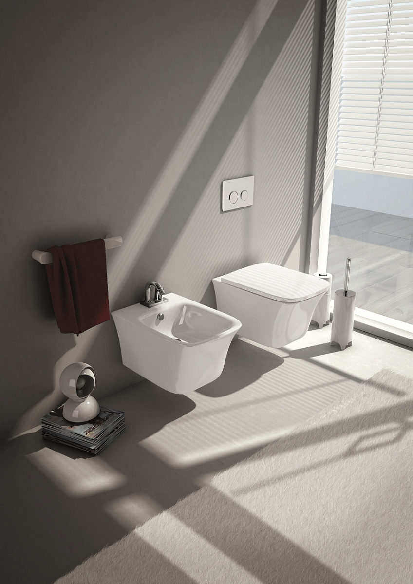 Wall-Hung Sanitary Fixtures For Small-Space-Conscious Bathroom Designs ...